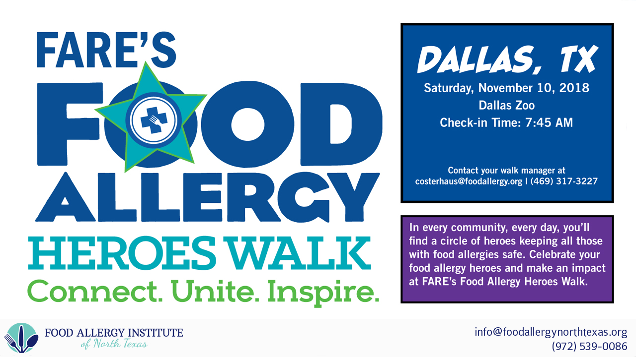 FARE's Food Allergy Heroes Walk at the Dallas Zoo on November 10